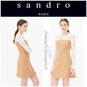 "Sandro ""Ideale"" camel lace mini dress 2 (US M)"